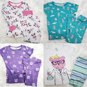 Carters| Pajamas PJ Girls Set Bundle Of 4 size 4t